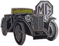 MG TC car cut out lapel pin - Black