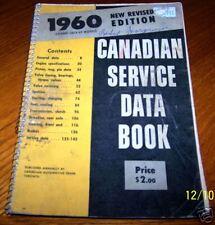 **VINTAGE** 1960 Canadian Service Spec Data Book