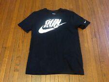 Men's Nike Run Logo Black White Running T-Shirt sz M