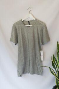 HUDSON Men's Light Grey Gray T-shirt 100% Cotton Tee Jersey Size M Medium