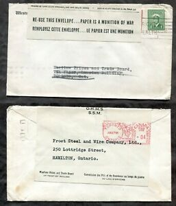p1156 - NEW WESTMINSTER 1944 Blackout Cover - Label - REUSED - OHMS Official ✉