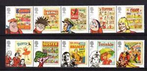 2012 GB COMICS MNH Stamp Set 2 Strips of 5 Stamps SG 3284-3293 Beano Eagle Bunty
