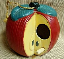 Pottery APPLE BIRD HOUSE - Very Cute