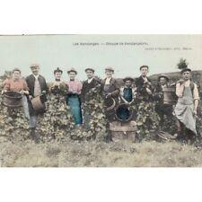 Cartes postale anciennes SCENES ET TYPES DE BOURGOGNE les vendanges groupe de ve