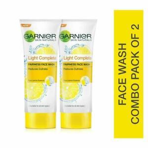 Garnier Skin Naturals, Light Complete Facewash, 100g Each (Pack Of 2) Free Shipp