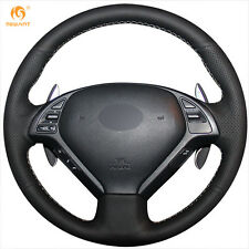 Black Leather Wheel Cover for Infiniti G25 G35 G37 QX50 EX25 EX35 EX37 2008-2013