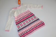 Gymboree Fair Isle Flurry Girls Size 2T Sweater Dress Snowflake Heart NWT