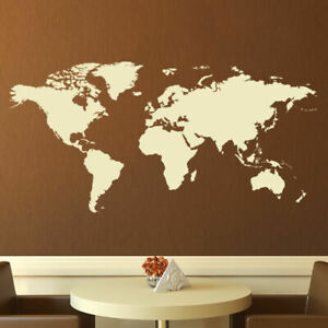 World Map Wall Art Sticker X-Large (AS10009)
