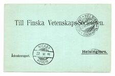 FINLAND/METEOROLOGY/THUNDER: Official postcard 1899, Thunder storm report.Scarce