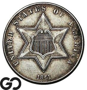1861 Three Cent Silver, 180 Deg Rotated Die
