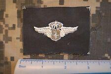US Air Force Badge Flight Nurse Chief Cloth OD Green Vietnam Era Insignia