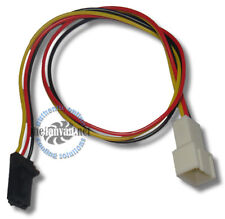 """Standard 3 pin Fan Cable to Dell Latch Style 3 pin adapter! 10"""" Long!"""