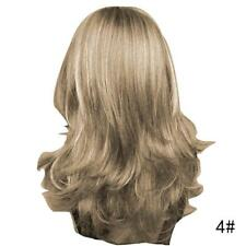 Lady Medium Long Full Wig Wavy Curly Brown/Black Hair Cosplay Costume Gifts