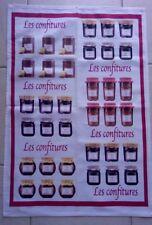 """Serviette Torchon Linge de cuisine recette """"Les Confitures"""""""