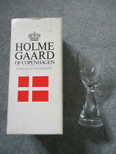 Princess Holmegaard of Copenhagen clear snaps Glass 9cm - new & boxed