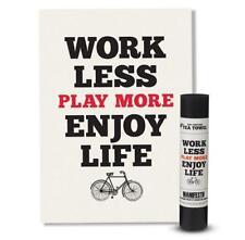 Work Less Play More Enjoy Life Manifesto Tea Towel by Wild & Wolf