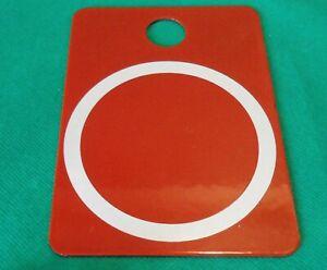 Railway Rail Red Enamel Metal Sign White Circle Marker Warning 14cm Underground?