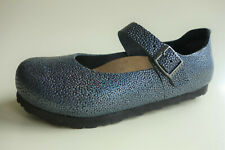 new BIRKENSTOCK Runway Mary Jane's MANTOVA Anthracite-Blue Metal US5 EU36 UK3 N