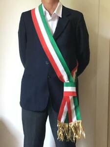 fascia sindaco a nastro tricolore in tessuto per cerimonie e riunioni civili