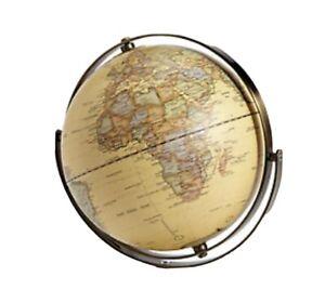 30CM Educational Swivel World Globe Map By M&S RRP £39.50 Rotating New Cream