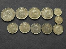 11 Swiss silver coins. 17 francs. Collectable world silv 00006000 er coins. 74.8 grams.