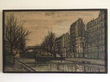 Bernard BUFFET - Le Canal Saint-Martin (sérigraphie numérotée)