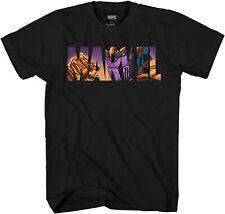 Marvel Logo Thanos Avengers Super Hero Adult Tee Graphic T-Shirt for Men Tshirt
