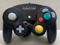 Official Nintendo GameCube Jet Black OEM Wired Controller DOL-003