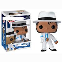 Funko Pop MICHAEL JACKSON Vinyl Figure #24 SMOOTH CRIMINAL White Suit Model 10cm