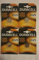 Duracell CR2025 3V Lithium Coin Cell Batteries  - 4 Pack