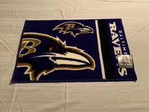 "Baltimore Ravens NFL Bath Rug 20"" X 30"" Northwest Company Brand New"