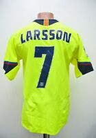 BARCELONA 2005/2006 # 7 LARSSON AWAY FOOTBALL SHIRT JERSEY NIKE SIZE S