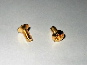 Electric Guitar 3/5Way 3mm Switch Screws Stratocaster - Telecaster GOLD x 2