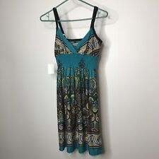 Bailey Blue Sundress Juniors Size S Paisley Floral Adjustable Straps Boho New
