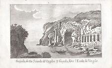 GAIOLA SCUOLA VIRGILIO NAPOLI - Incisione Originale Mariano Vasi 1821 Naples