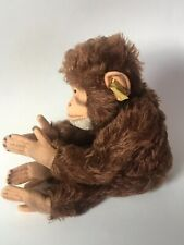 "Steiff ""Jocko"" Monkey With Tag & Button In Ear Chimp Squeaker Works Jointed VGC"