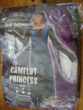 NWT WOMEN Hidden Illusions CAMELOT PRINCESS HALLOWEEN DRESS WITH VEIL SIZE L (M)