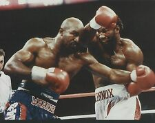 EVANDER HOLYFIELD vs LENNOX LEWIS 8X10 PHOTO BOXING PICTURE
