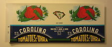 Wholesale Lot of 100 Old Vintage Carolina Tomatoes & Okra Can LABELS  Gilbert SC