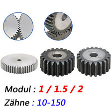 Modul 1, 1,5 , 2 Zahnrad Stirnräder Stirnrad mit 10 bis 150 Zähne Flach Zahnrad