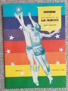 1956. University Of San Francisco Basketball Program. BILL RUSSELL  K.C.JONES