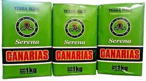Canarias Serena 3 PACK Yerba Mate  1 Kg Uruguay Brazil (Ship From USA)