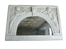 "Vintage Collectable  Stone Relief production of ""Library of Congress"" Mirror"