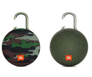💎🎵  JBL CLIP3 Wireless Bluetooth Speaker Waterproof Outdoor CAMO/GREEN 🎵💎