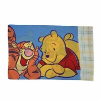 """Vintage Disney Winnie The Pooh Tigger Pillow Cover 31"""" x 20"""" Cotton Made in USA"""
