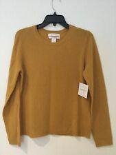 Women's Ellen Tracy 100% Cashmere Sweater Size XL Mustard Yellow