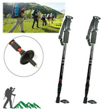 2Pcs Trekking Walking Hiking Sticks Poles Adjustable Alpenstock Anti-shock