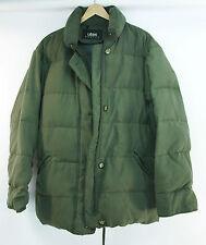 Womens UTEX Goose DOWN Hooded COAT Fur LINING Medium OLIVE