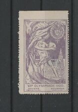 Olympic Games 1920 Antwerp cinderella poster stamp no gum (2) thin spot