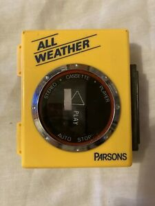 Parsons all weather stereo cassette player vintage collectible